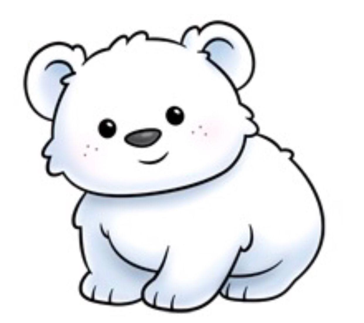 Polar Bear Com Imagens Desenho Urso Polar Desenhos Kawaii