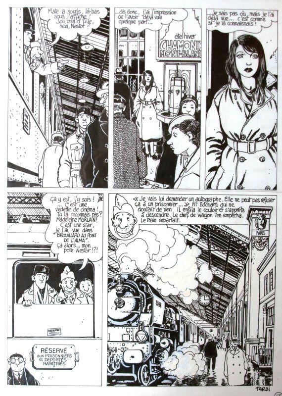 Nestor Burma  – 120, rue de la Gare par Jacques Tardi, Léo Malet - Planche originale