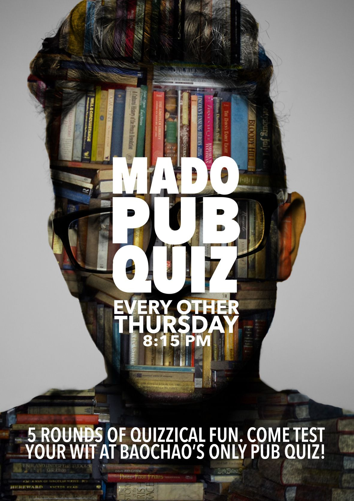 Poster design for quiz - Behance Editing Mado Pub Quiz Nights Poster