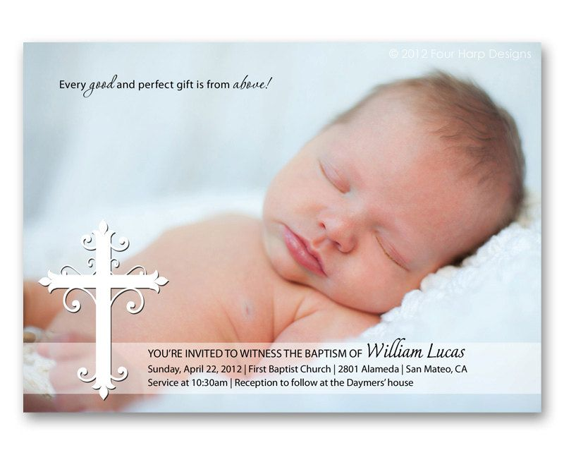 17 Best images about BAUTISMO – Baby Dedication Invitation Card