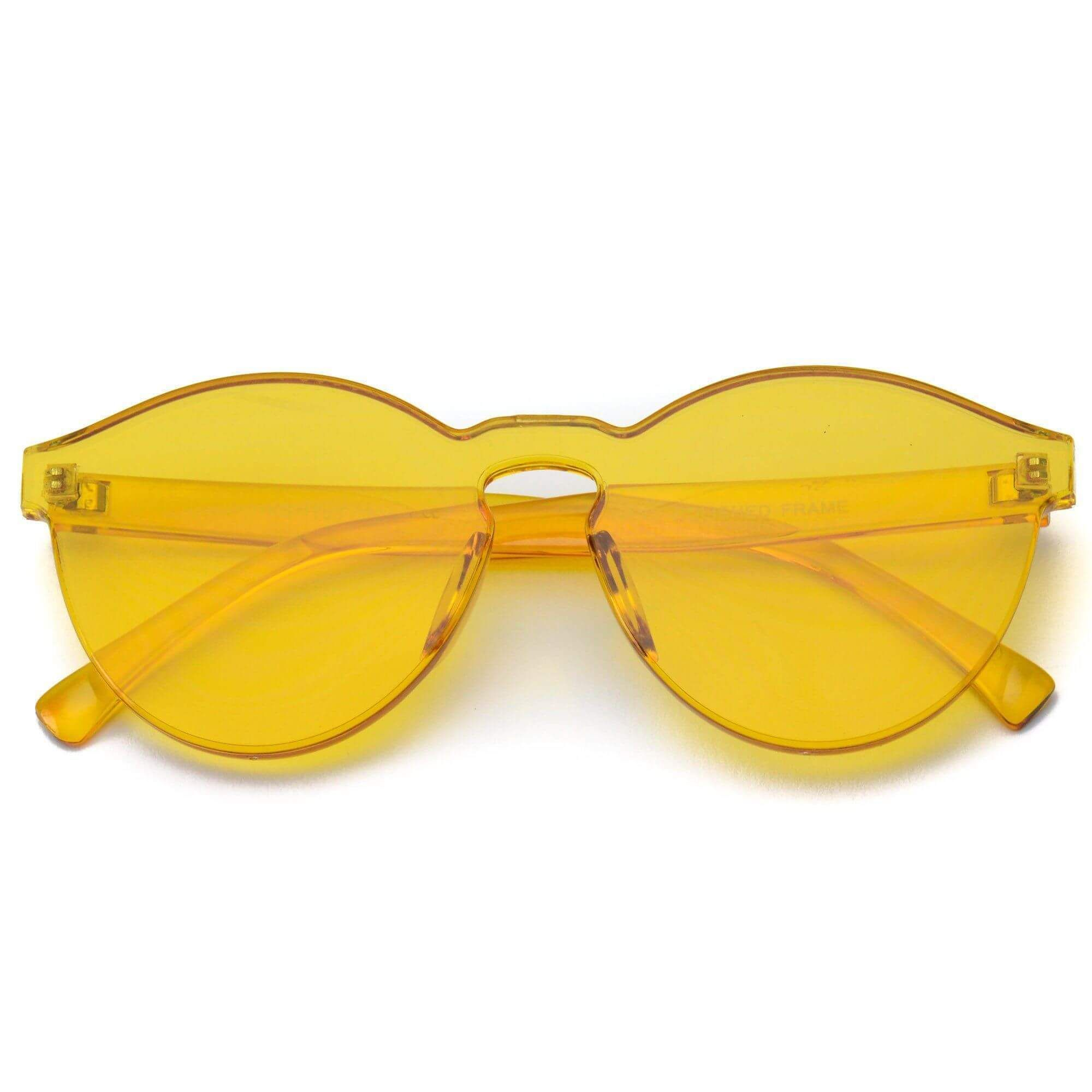 67d96a6ced8 Bailey Colorful Transparent Mono Round Summer Sunglasses