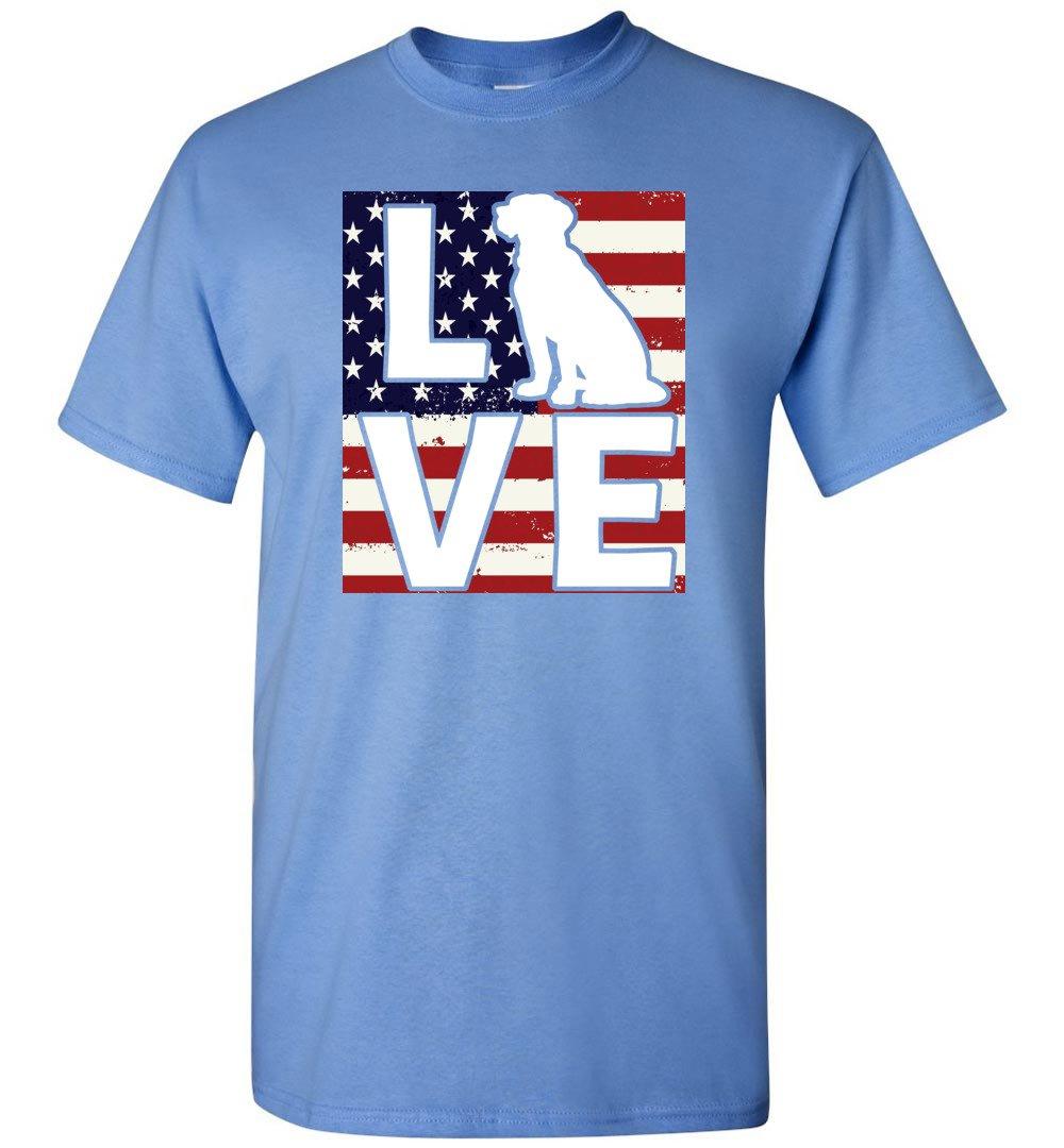 Dog Lovers Shirt Patriotic American Flag Dog Love - Short Sleeve T-Shirt