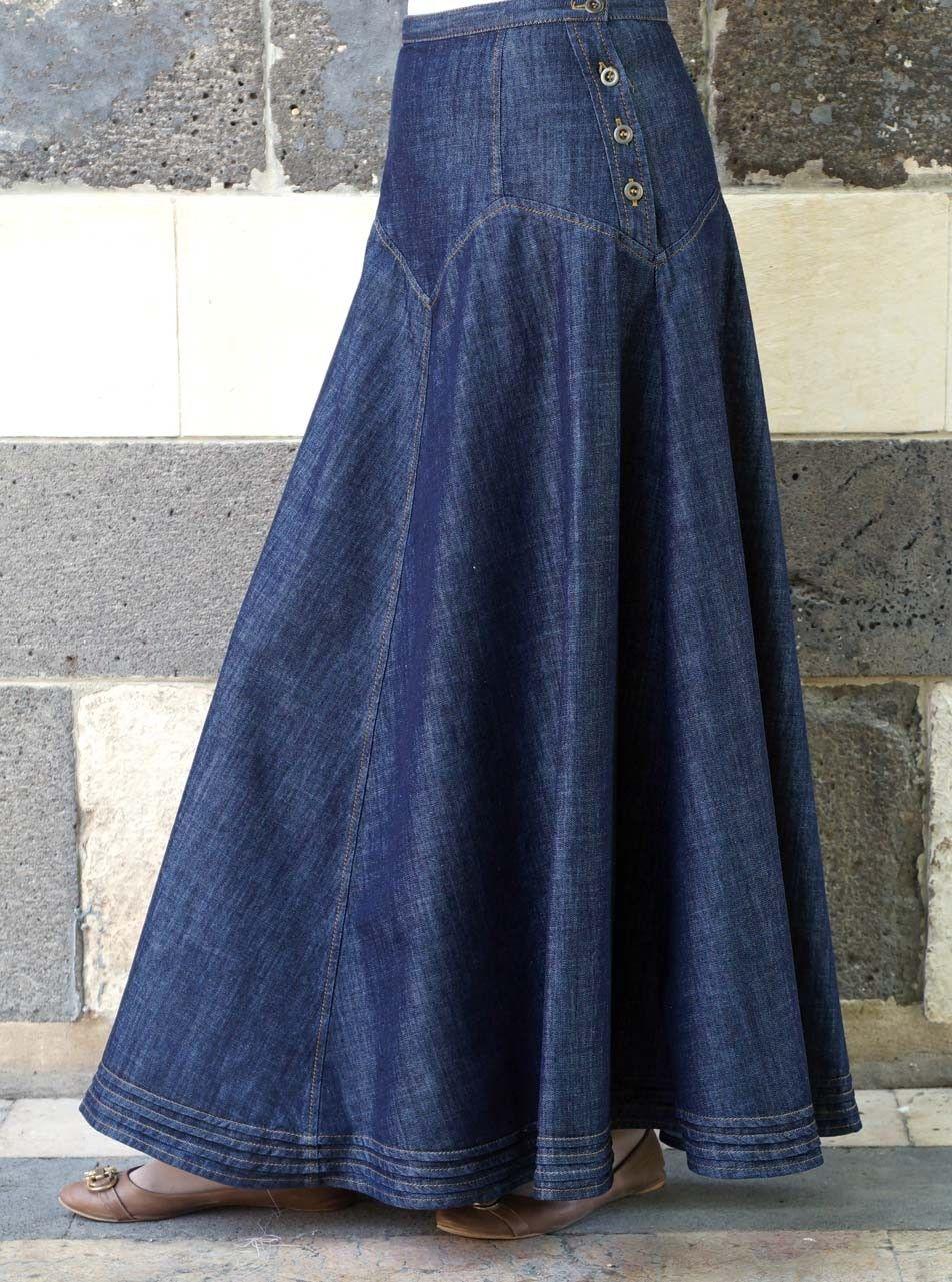 jeans maxi rok