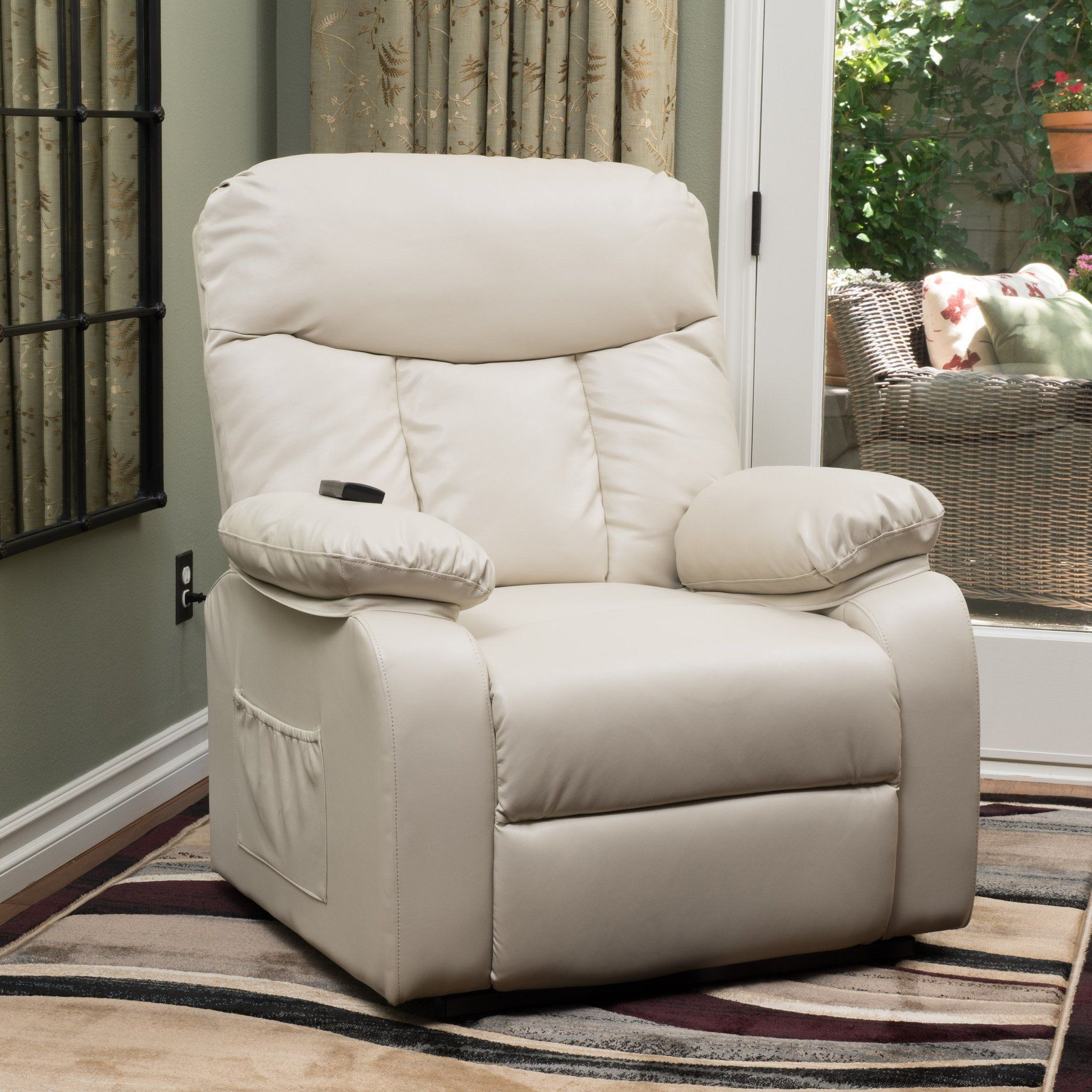 Edenton Leather Lift Up Recliner Chair