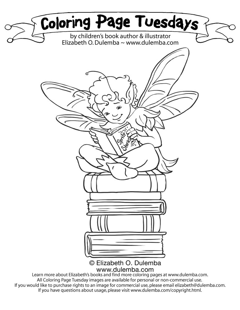 Coloring Page Tuesday Reading Sprite Coloriage Coloriage Enfant