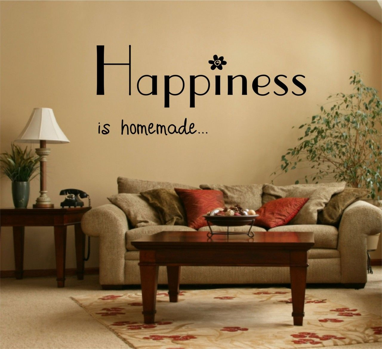 Happiness Is Home Made Quote Vinyl Wall Art Sticker Decal. | Ideas ...