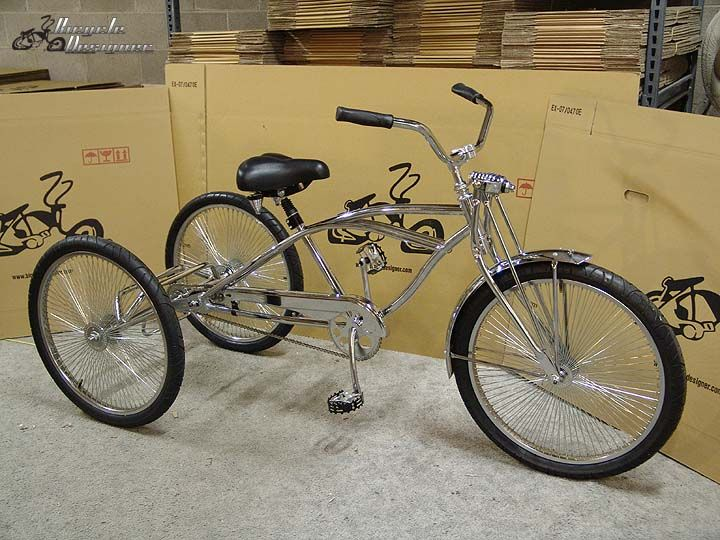 "trike 5//8/"" axle 20/"" ~26/"" Bicycle Bike to Tricycle Trike Conversion Kit Chrome"