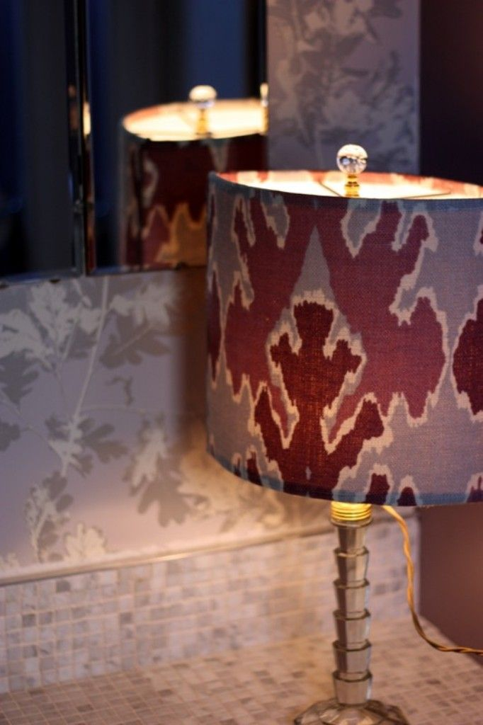 Cool printed lamp shade a perfect way to inject pattern in your home decor