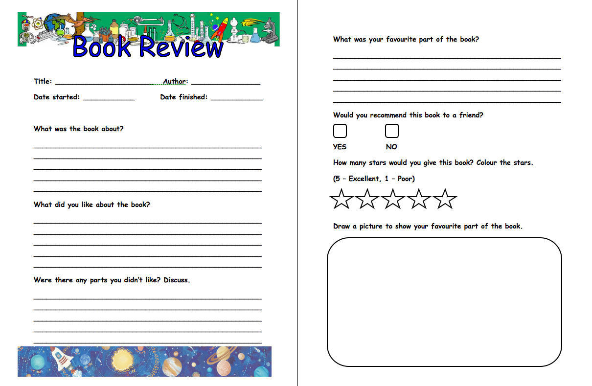 Writing a review primary resources