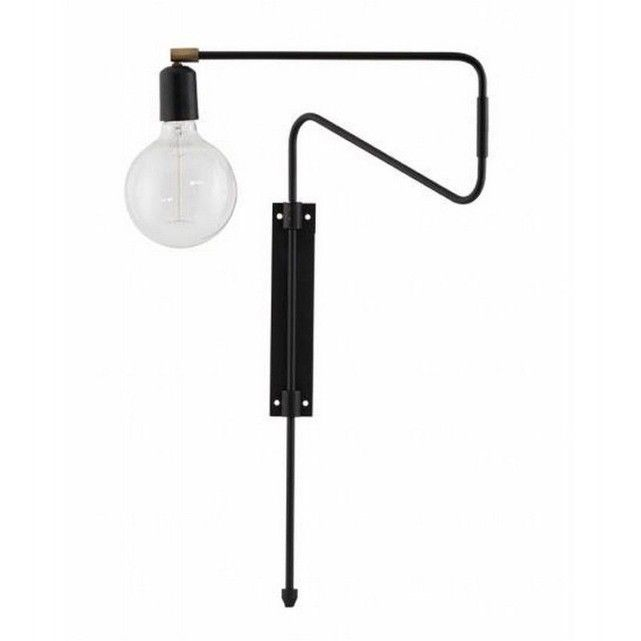 SWING - Applique murale orientable Noir L35cm | House doctor, Swings ...