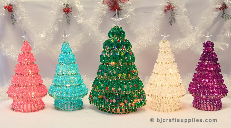 Beaded Christmas Tree Kits Holiday Crafts Christmas Christmas Tree Kit Safety Pin Crafts