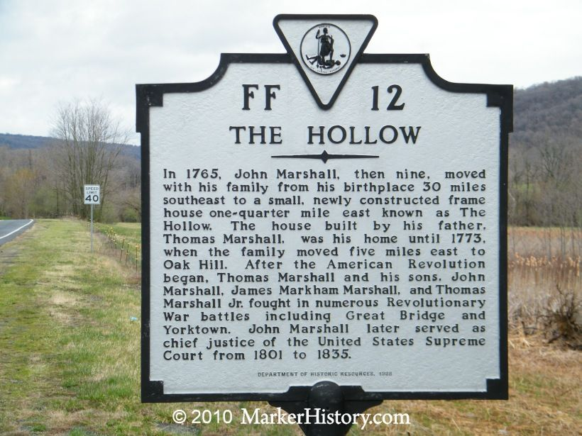 The Hollow Ff 12 Marker History Virginia History Historical Marker War Monument