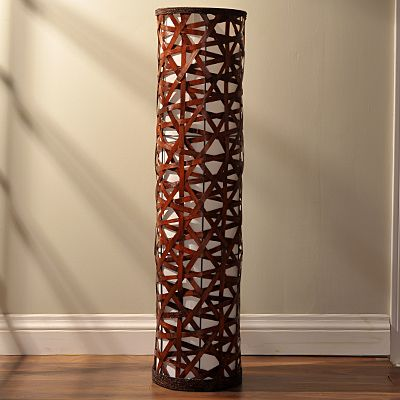 Woven floor lamp pin it to win it dream cottage great room woven floor lamp mozeypictures Gallery