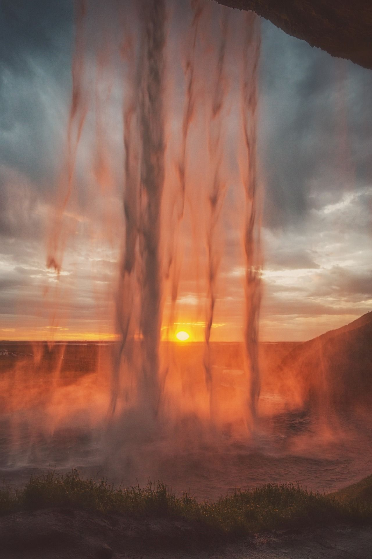 Through the veil - #edited #friday #iceland #landscape #meolog #on #photographers #Seljalandsfoss #seriously #source: #sunset #tumblr