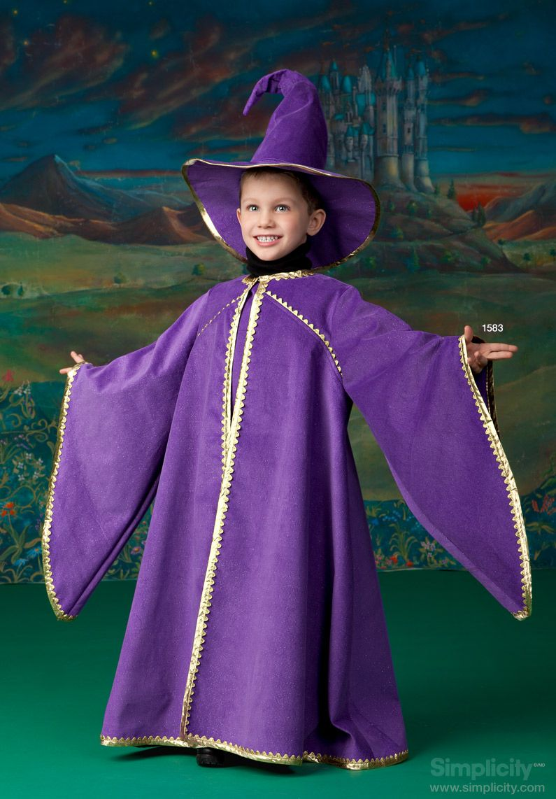Child\'s wizard costume with cape #SimplicityPatterns | Halloween ...