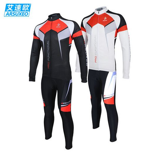 Men Cycling Clothing Bike Bicycle Long Sleeve Jersey Outdoor Sports Pants Set