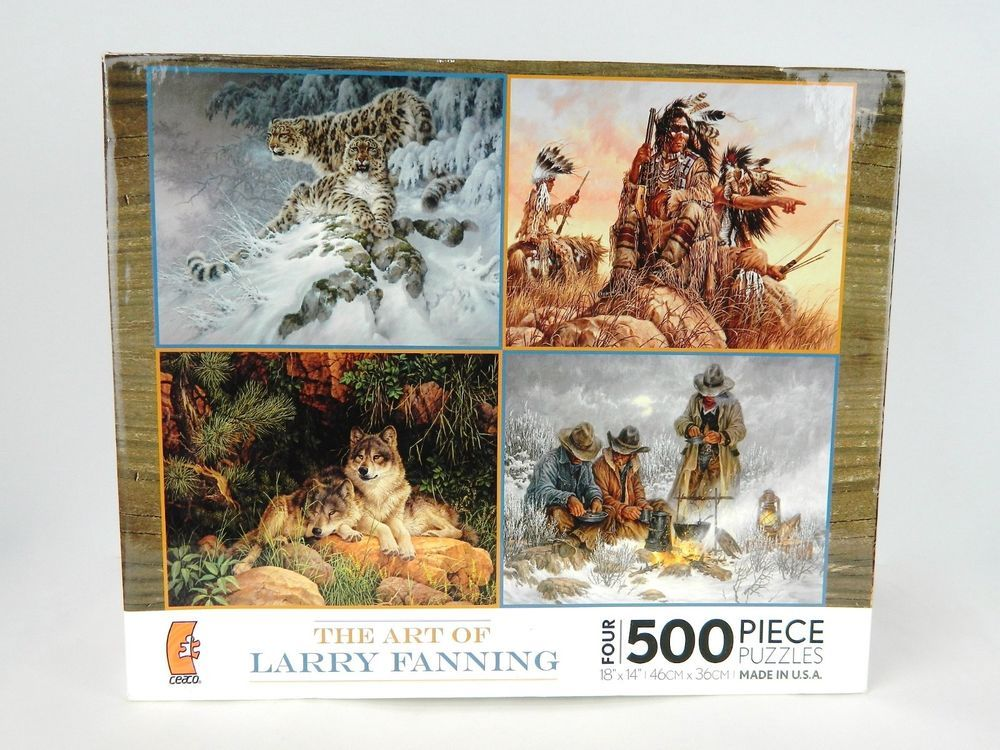 The Art Of Larry Fanning 4 FOUR 500 Piece Jigsaw Puzzle