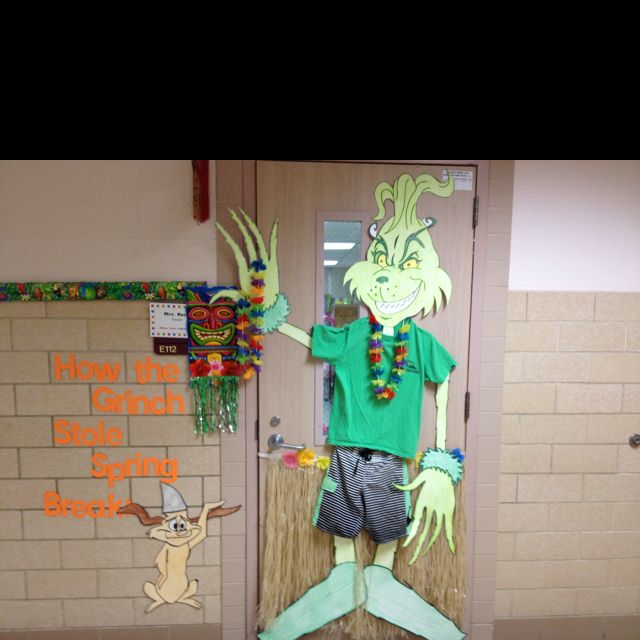 How The Grinch Stole Spring Break Cute Dr Seuss