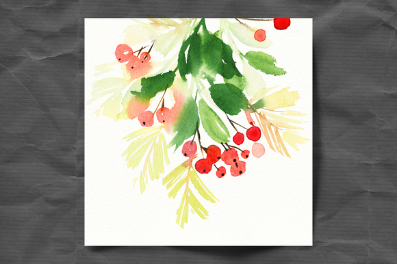 Set of watercolor Christmas cards by ArtStore on Creative Market