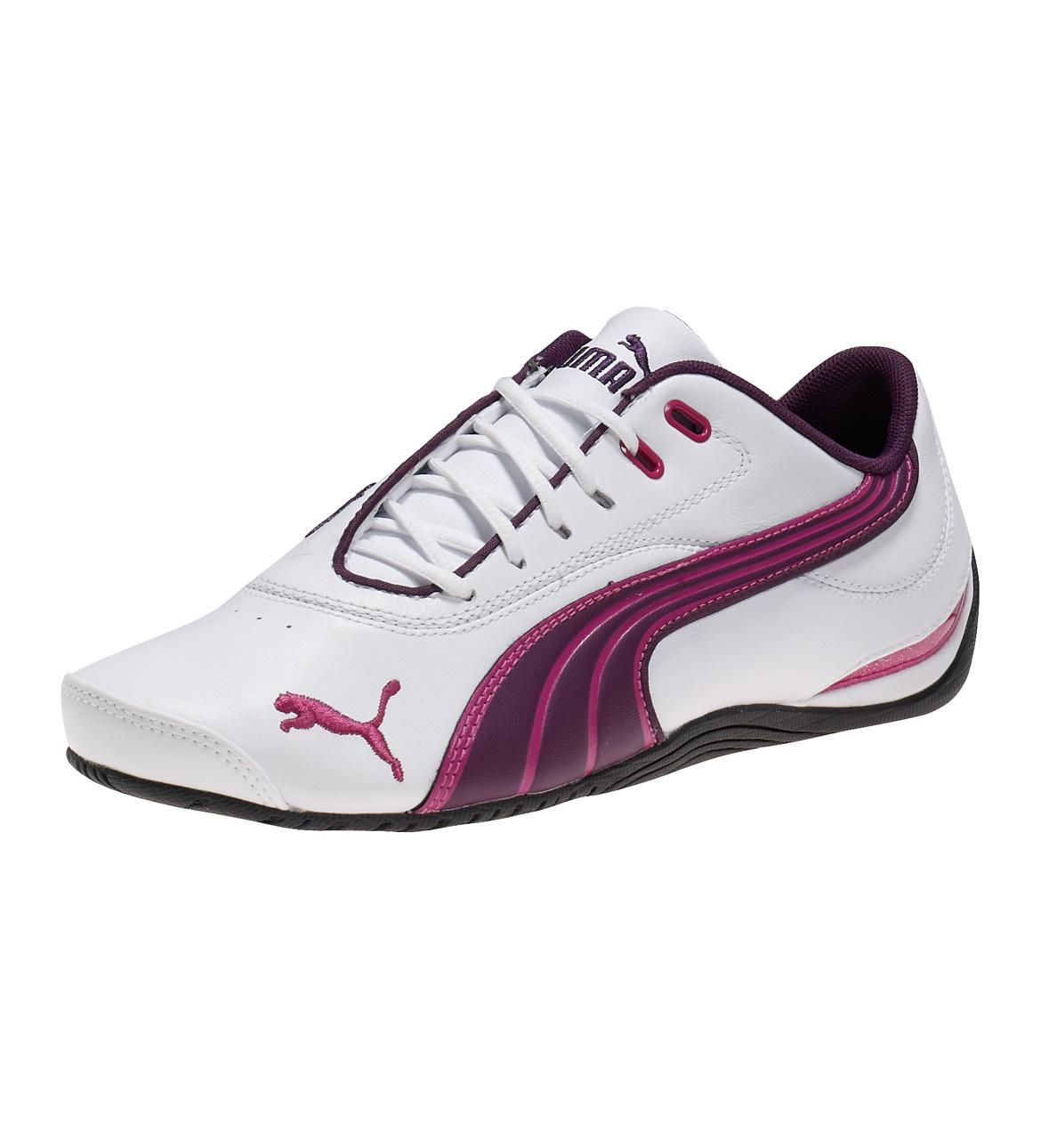 Now Buy Puma Drift Cat Iii Women Shoes White-Shadow Purple-Festival Fuchsia  US Online Save Up From Outlet Store at Pumashoes.