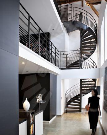 Photo DH83 - SPIR\u0027DÉCO® Caisson Escalier intérieur métal et bois