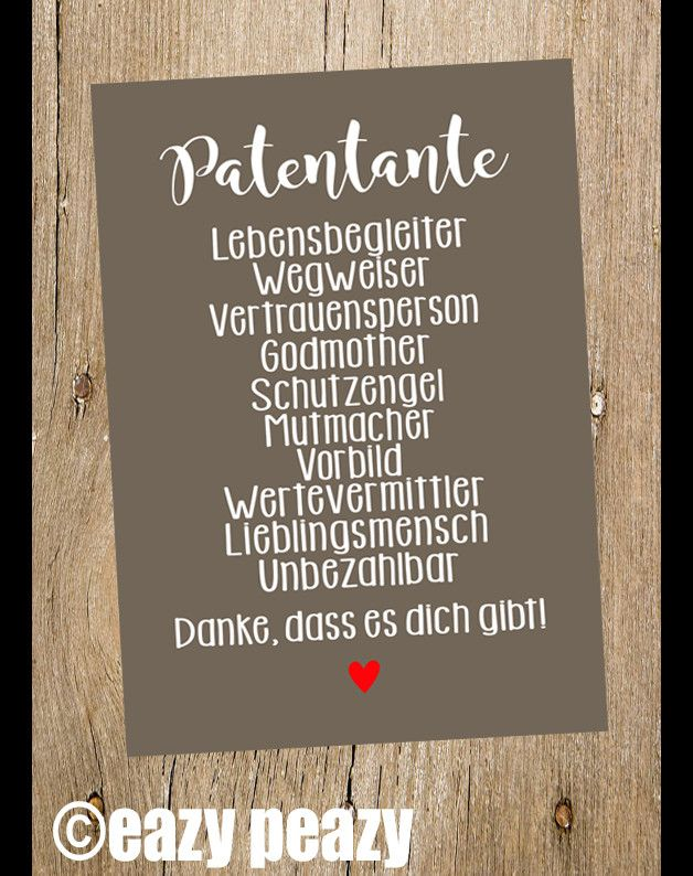 ☆ PATENTANTE ☆ Postkarte ☆ | Babies