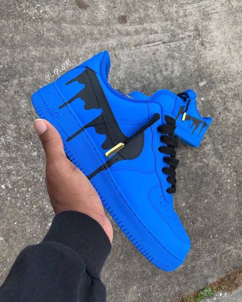 """""""Drip"""" Custom Nike Air Force 1 '07 Custom nike shoes in"""