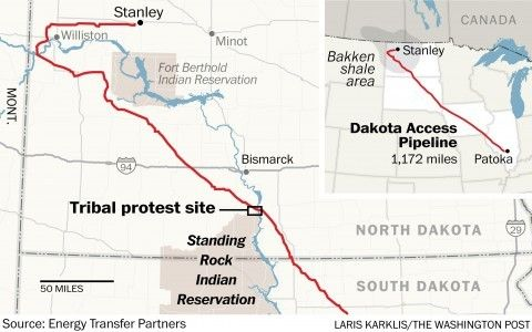 Showdown over oil pipeline becomes a national movement for