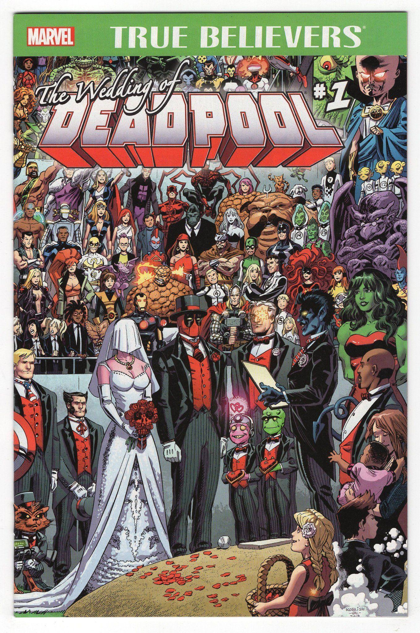 True Believers Wedding Of Deadpool 1 Regular Scott Koblish Cover 2016 Marvel Comics Dead Pool Boda Super Heroe