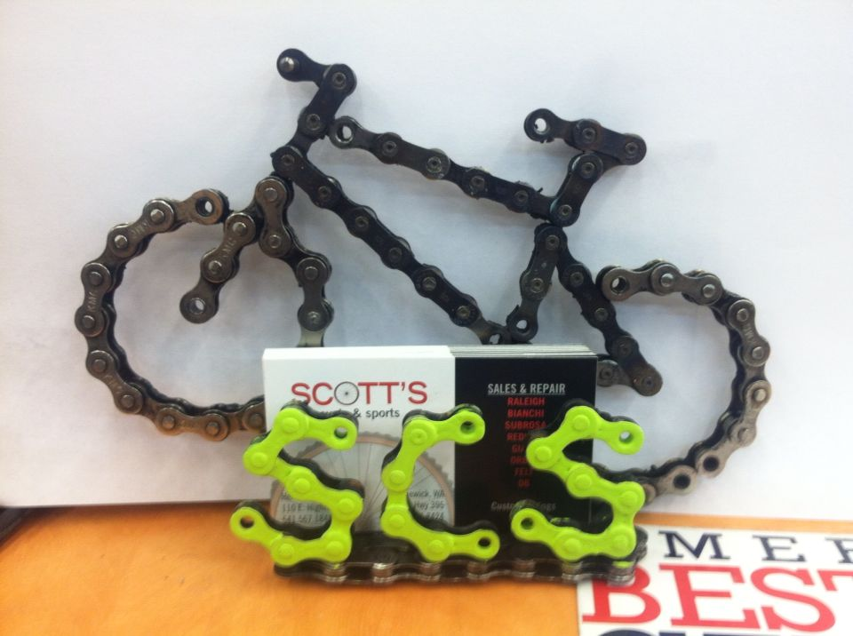 Bike Chain Business Card Holder I Made For The Bike Shop I Work