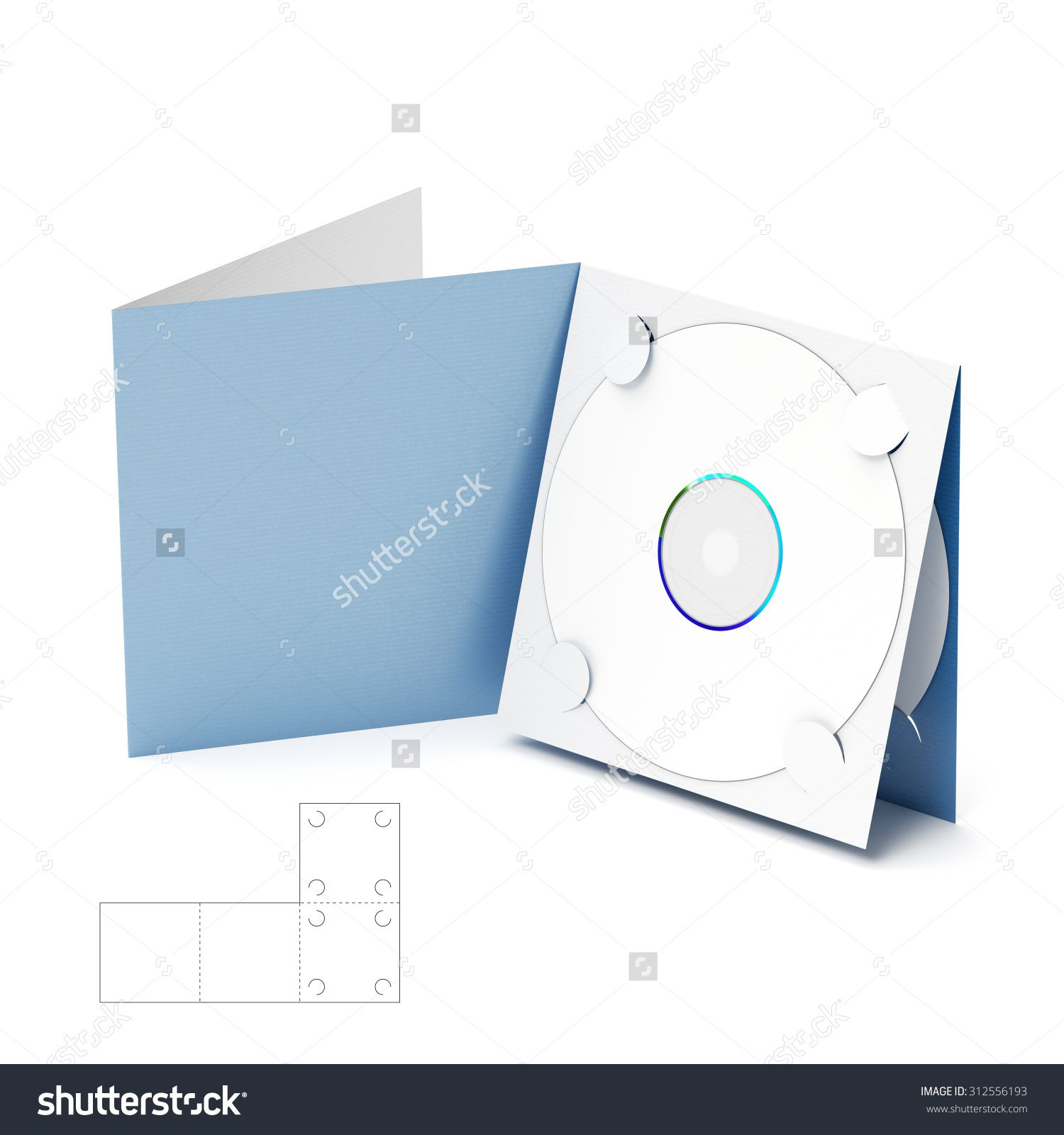 Cd & Dvd Folder Brochure With Die Cut Layout Stock Photo 312556193 ...