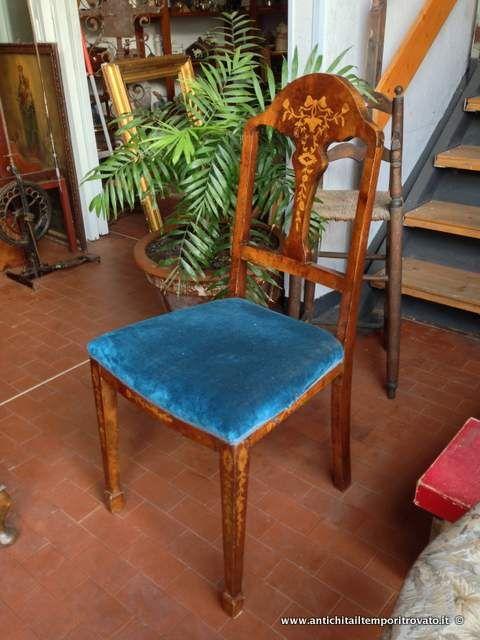 Sedie Antiche Milano.Mobili Antichi Sedie Antiche Sedie Olandesi Intarsiate