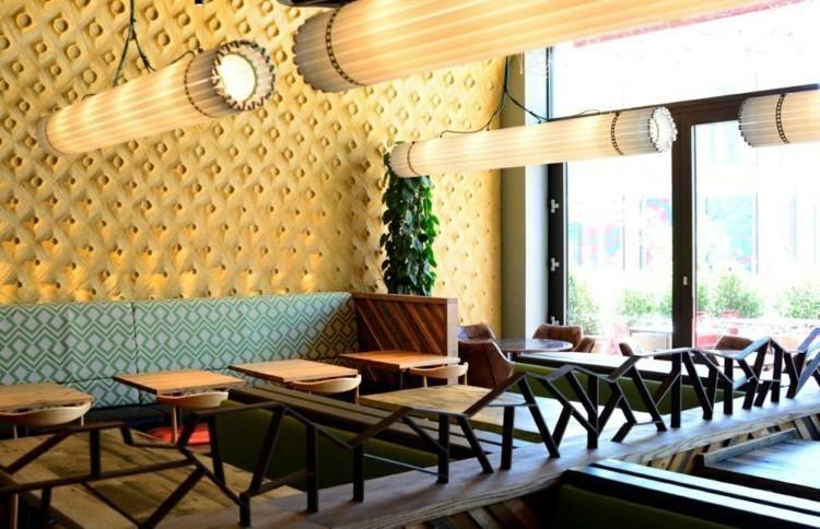 Stehlen Designer restaurants mit dachgestaltungen die aussehen stehlen dekoration