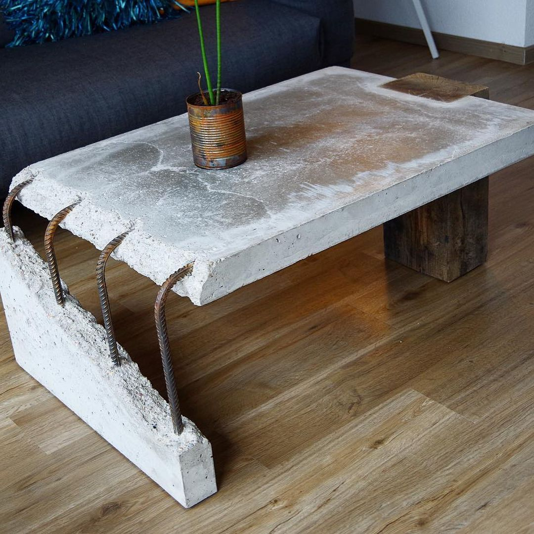 Concrete Wood Coffee Table By Stephan Schmitz Coffee Table