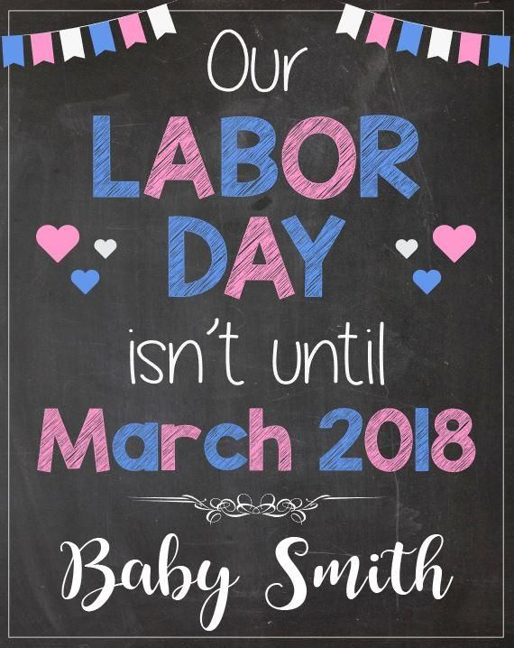 picture regarding Closed Labor Day Printable Sign identified as Labor Working day Being pregnant Make clear Signal Announcement Symptoms Adorable