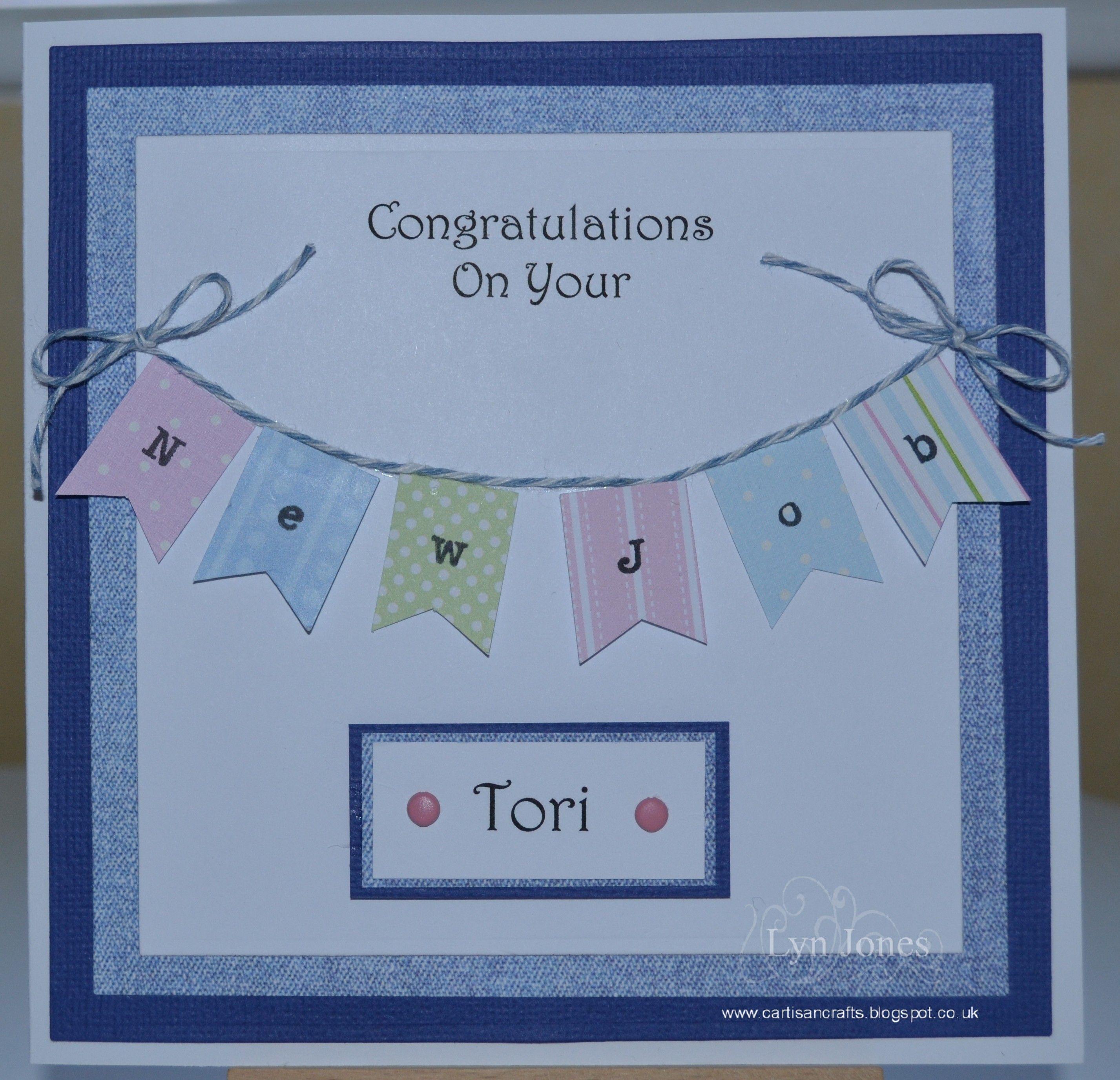 a commissioned  u0026quot congratulations on your new job u0026quot  card