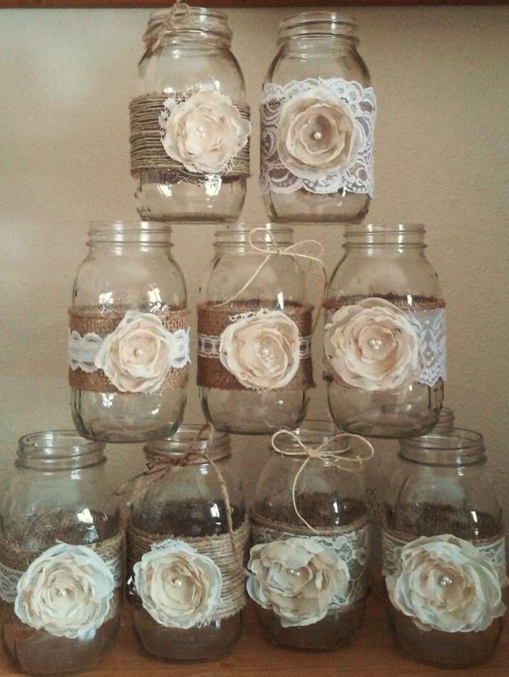These Rustic Mason Jar Ideas Are Great For Barn Yard Wedding Decorations