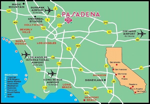 Map Of Pasadena California Things to Do in Pasadena, CA #california #pasadena #travel
