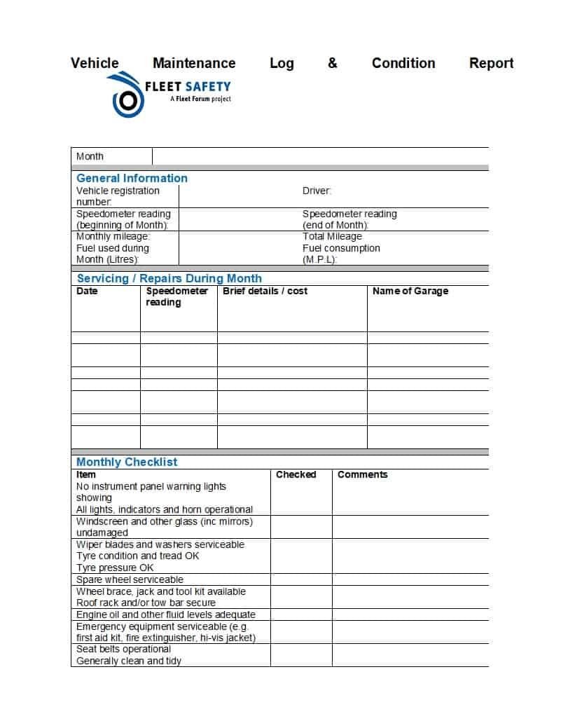 The Breathtaking 40 Printable Vehicle Maintenance Log Templates ᐅ Template Lab Inside Maintenance Job Car Maintenance Jobs Computer Maintenance Report Template