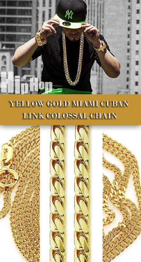 gold solid chains mens heavy yellow necklace product link inch mariner chain