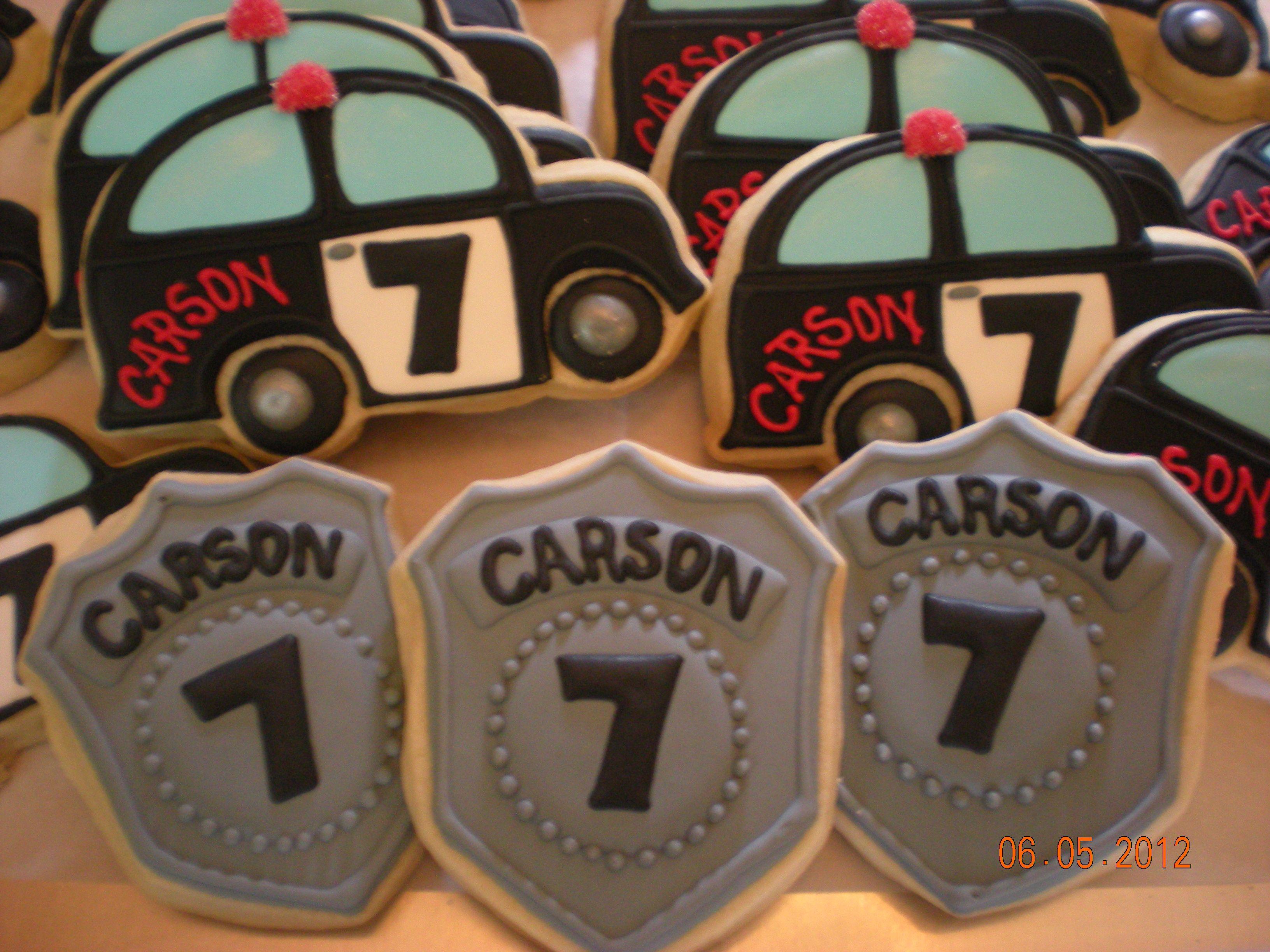 police car and badge cookies my cookies pinterest police