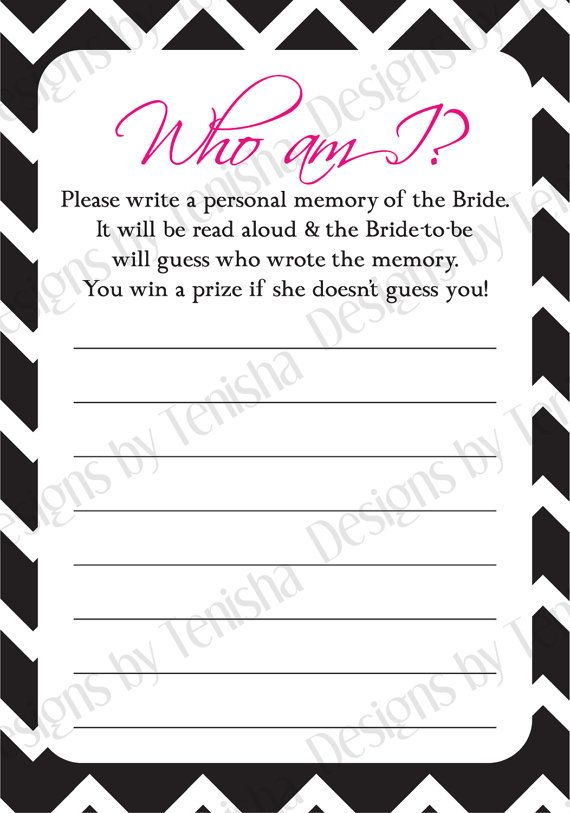 graphic regarding I Printable known as Who Am I Bridal Shower Match, Do-it-yourself, Fast Obtain, Bridal