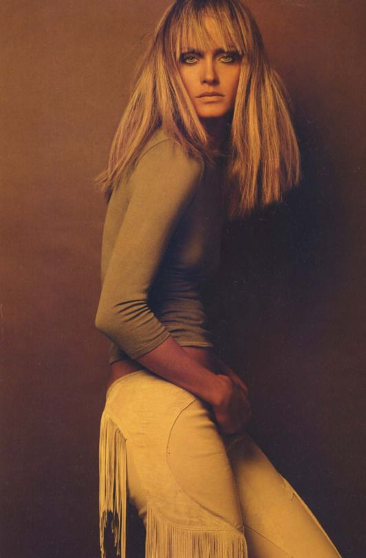 Often Imitated, Never Duplicated.Amber Valletta by Steven Meisel for Versace F/W 2003