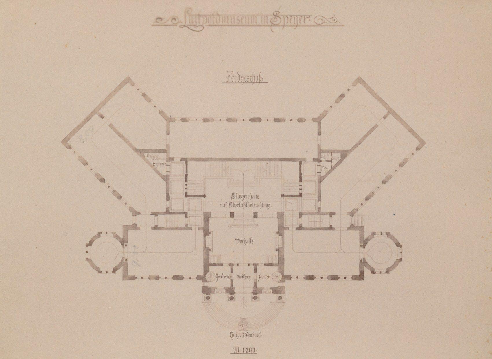 Architekten Speyer so sah schöberl den grundriss des luitpoldmuseums franz schöberl