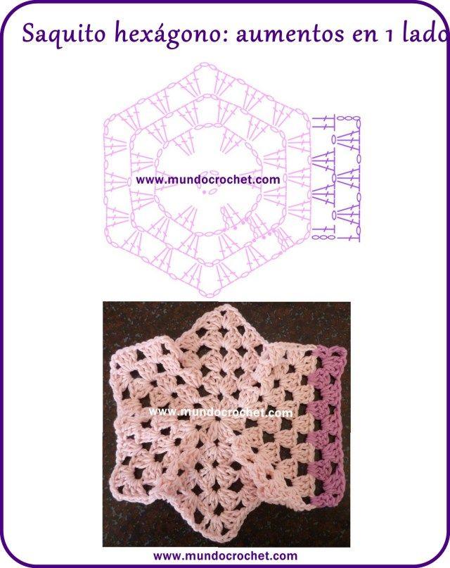 Saquito crochet hexágono/Campera crochet hexágono/Saquito ganchillo ...