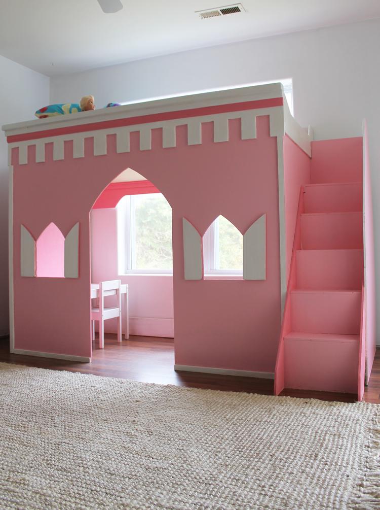 princesscastleloftbed30 … Kids loft beds, Princess