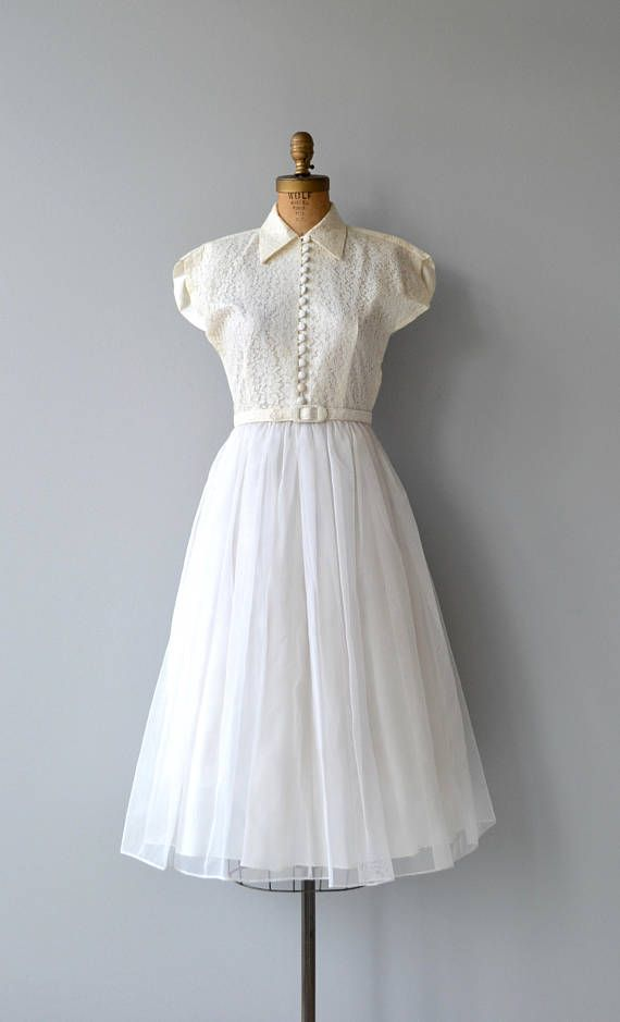 Sweet Nothing wedding gown | vintage 1950s wedding dress | lace 50s ...