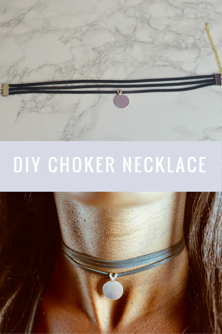 2bc1ae79a86 DIY Layered Choker Necklace with pendant - Very easy to make | D I Y ...