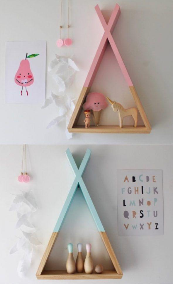 Diy des tag res en bois pour votre d coration - Diy chambre bebe ...