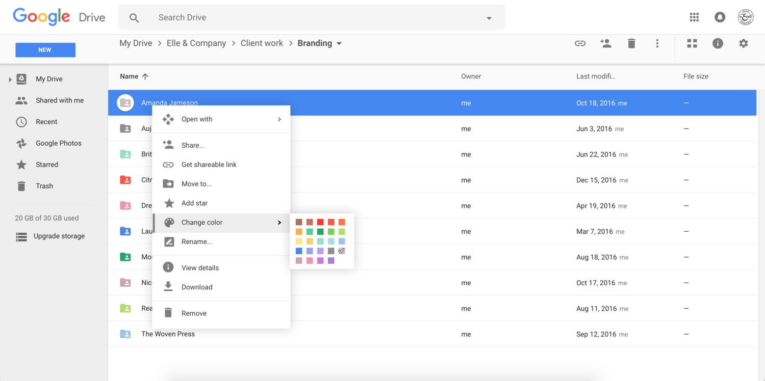 How to Organize Google Drive for Your Business | Elle & Company